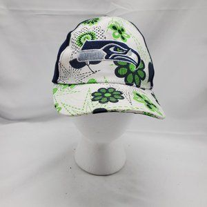 Official NFL Seattle Seahawks hat floral pattern